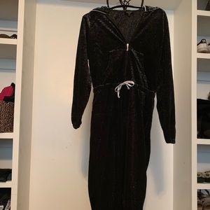 Juicy Couture velour hooded jumpsuit